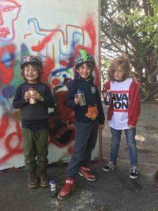 Kids enjoying the Styles of Somerset event at Glastonbury Skatepark scaled