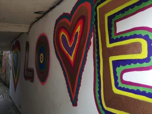 Love Mural by Taressa Hares in the tunnel  scaled