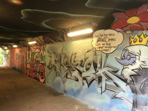 MOA artwork at the underpass