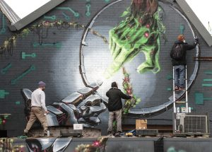 Sym Sikoh and DMK painting the Life Factory