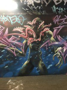 artwork at underpass