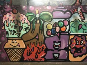 arwork at the underpass