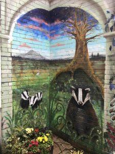 badgers wildwood mural by chloe forfitt scaled