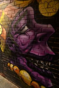 jester face in tunnel by DMK