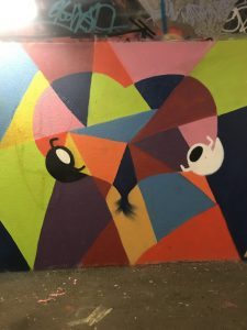 sym artwork at the underpass
