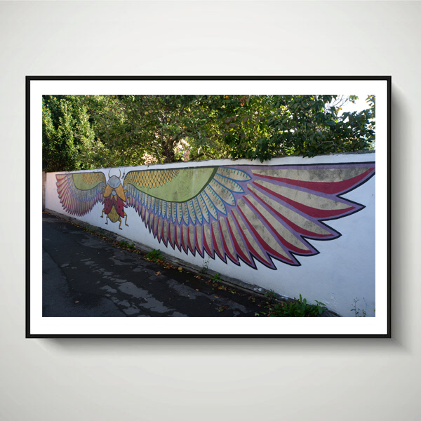 winged bug print