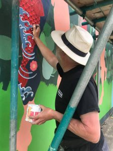 Frank painting tttoos on adam and eve
