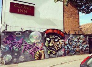 globe inn mural by MOA crew