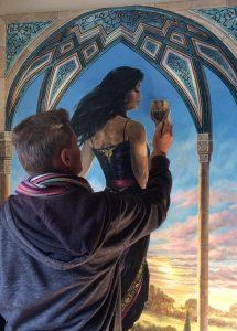 jon m painting Queen of cups