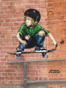 red brick stencil
