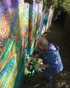 sara painting jacobs ladder
