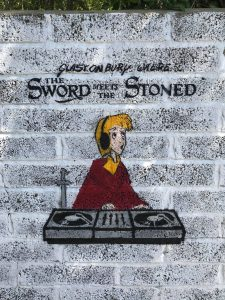 the sword meets the stoned